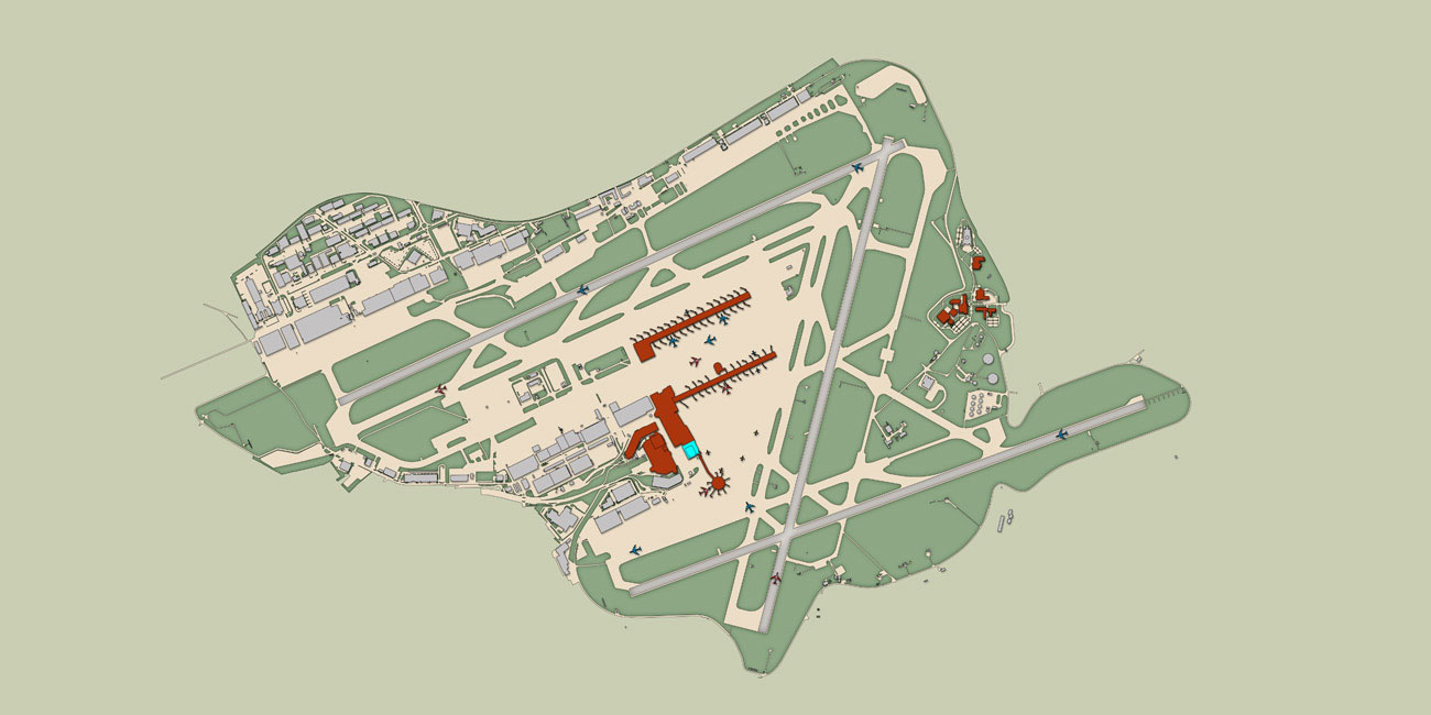 JaspersEyers Architects - Brussels airport map